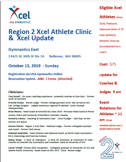 Region 2 Xcel Clinic Graphic