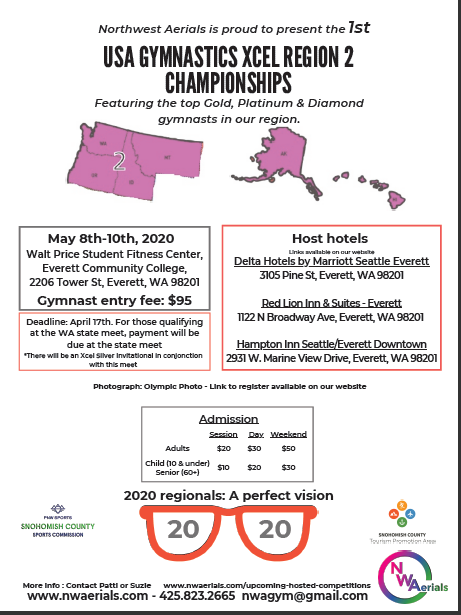 Xcel Regionals 2020 Graphic